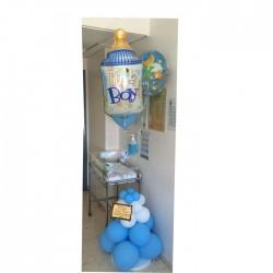 torre de globos para recién nacidos