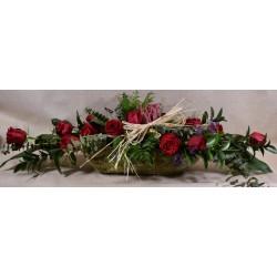 Capazo Gr de rosas Rojas